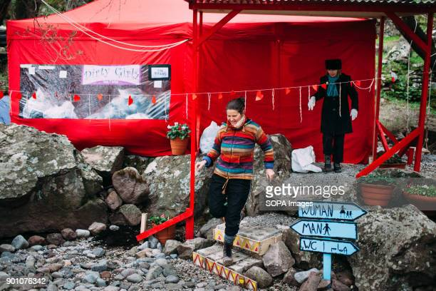 Inside the Lighthouse camp, one of the many volunteers camp on the island, the Dirty Girls have their headquarter tent. Dirty Girls of Lesbos is a...