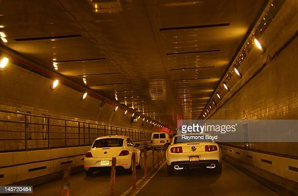 Inside the Lincoln Tunnel in New York New York on MAY 11 2012