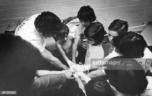 Inside the locker room before the fight the boys hold hands and Leewaye says a prayerAction is fast and furious and fighters who hit canvas rebound...