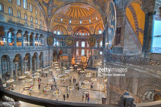 Inside the magnificant Hagia Sophia