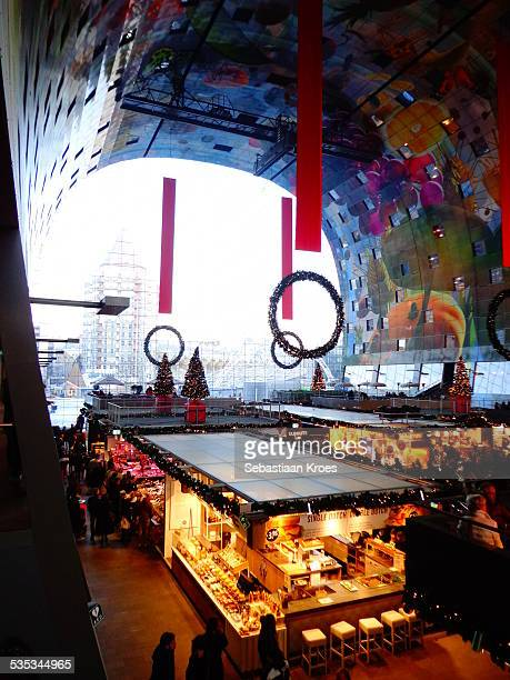 Inside the Markthal, Rotterdam, Netherlands