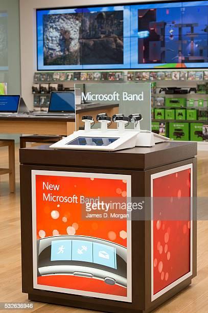 Inside the Microsoft store in Pitt Street Sydney, before store opening on November 11, 2015 in Sydney, Australia.