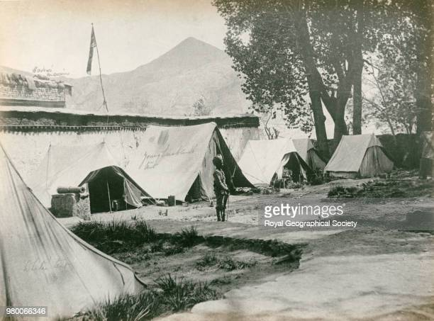 Inside the Mission House Gyantse this was beseiged and bombarded by Tibetans for two months Tibet Mission Force Tibet 1904