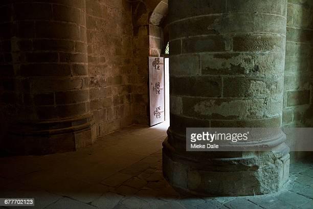 inside the Mont Saint-Michel Abbey