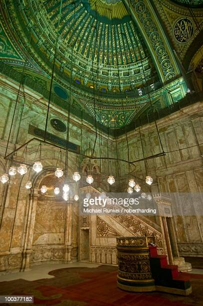 Inside the Mosque of Mohammed Ali, Cairo, Egypt, North Africa, Africa