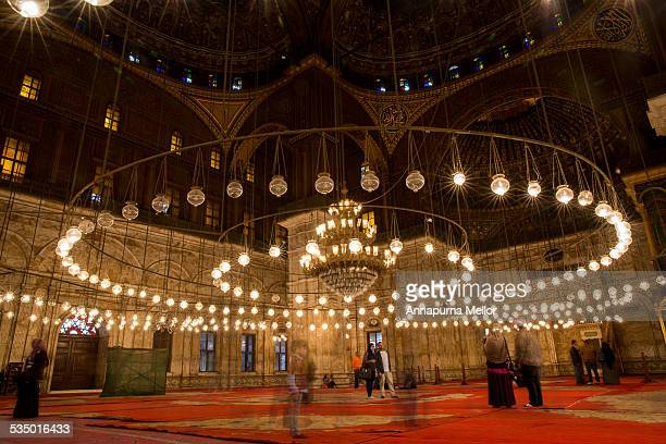 Inside the Mosque of Mohammed Ali, Citadel, Cairo