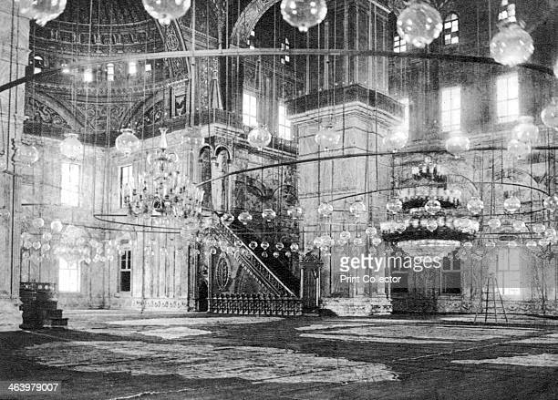 Inside the Mosque of Muhammad Ali at the Saladin Citadel Cairo Egypt c1920s Plate taken From In the Land of the Pharaohs published by Lehnert Landrock