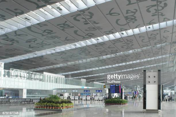 Inside the new Netaji Subhash Chandra Bose International Airport in Kolkata West Bengal India Last 12 months the airport traffic was almost 16000000...