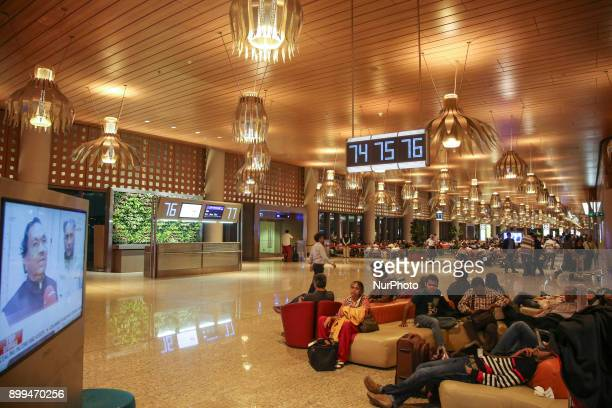 Inside the new terminal T2 in Mumbai International Airport quotChhatrapati Shivaji Maharajquot that is open since 12 February 2014 Mumbai Airport is...