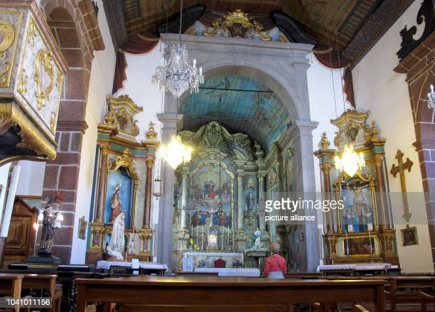 Inside the Nossa Senhora Church where Emperor Karl I Franz Joseph of Austria is buried in Funchal Portugal 04 March 2015 Photo Jens Kalaene...