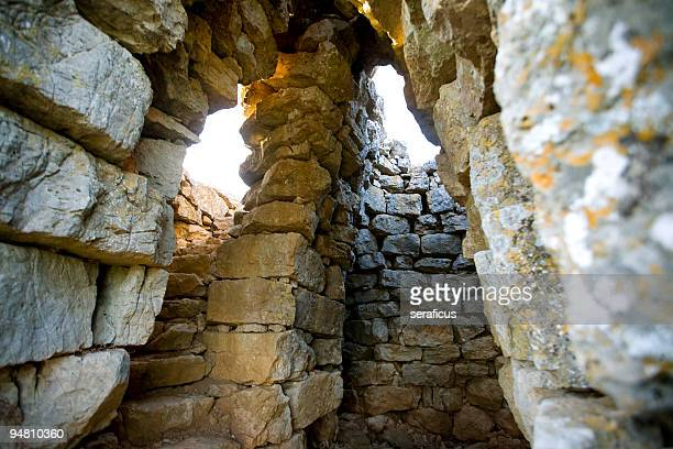 All'interno del nuraghe
