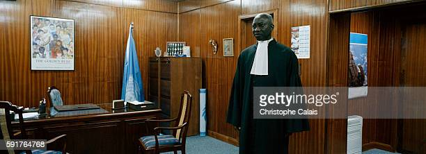 Inside the office of the Senegalese Court Registrar Adama Dieng who is also the representative of the Secretary General of the United Nations Kofi...
