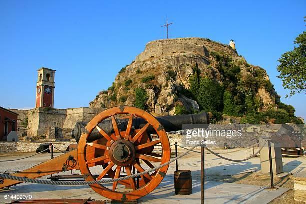 inside the old fortress, corfu, greece - frans sellies stockfoto's en -beelden