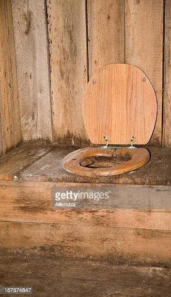 inside the old outhouse