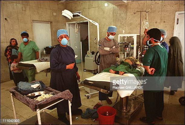 Inside the operating room at the Indira Gandhi Hospital in Kabul In the foreground Dr Nilab Mobarez chairwoman of the Bactriane association and...