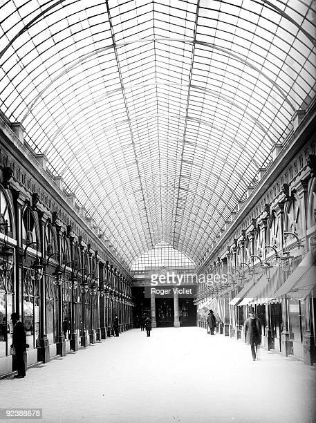 Inside the Orleans gallery in the PalaisRoyal Paris around 1900