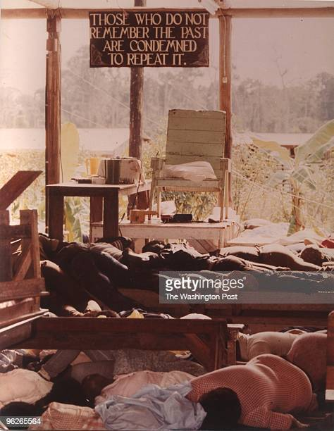 Inside the People's Temple in Jonestown Guyana The bodies of followers that drank the cyanidelaced drink are strewn around the commune More than 900...