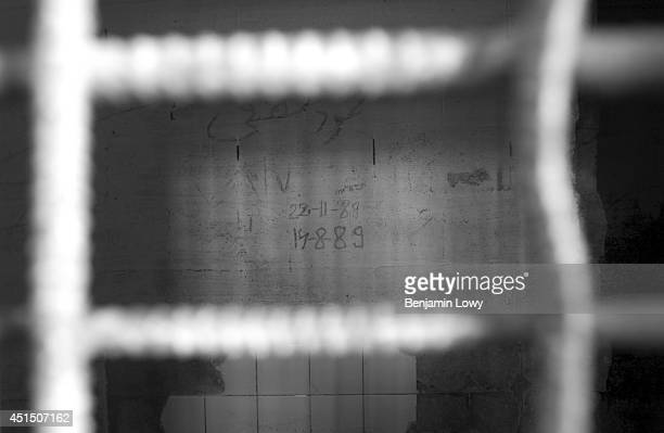 Inside the prisons at Abu Ghraib run by Saddam Hussien during his 35year regime taken in May 2003 in Baghdad Iraq Prisoners kept at Abu Ghraib prison...