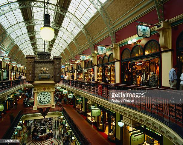 inside the queen victoria building - sydney, new south wales - queen victoria stock pictures, royalty-free photos & images