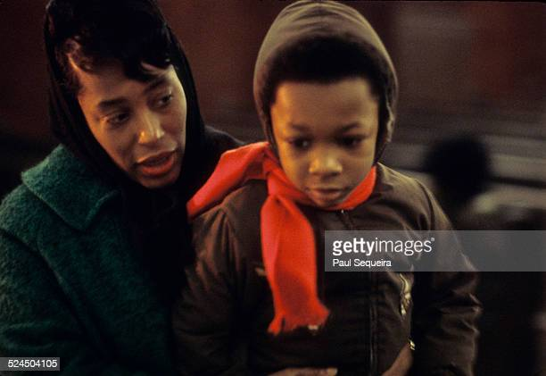 Inside the Rayner Funeral Home a mother and her son file past the open casket of Fred Hampton the slain Black Panther Party leader to pay last...