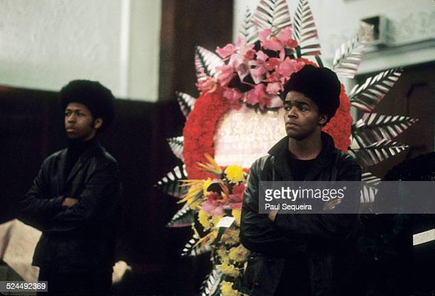 Inside the Rayner Funeral Home where Fred Hampton's body lay in state men women and children pay respect to the fallen leader of the Black Panther...
