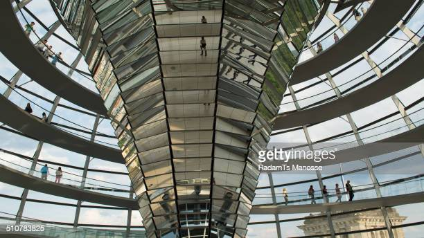 Inside the Reichstag Dome Berlin Germany