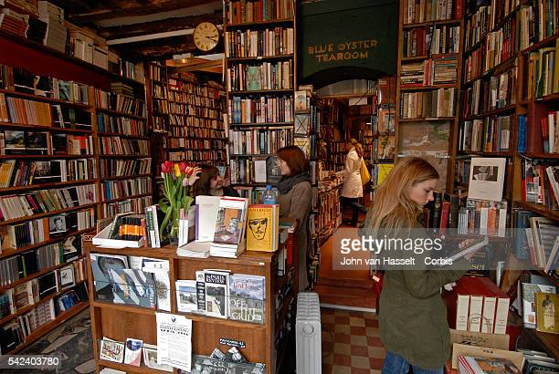 Inside the Shakespeare and Company bookstore located on the Left Bank in Paris is an oasis of 20th century bohemian and Lost Generation literary...