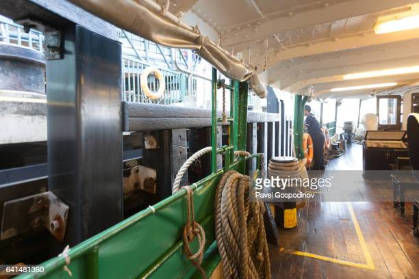inside the star ferry crossing victoria harbour in hong kong island - star ferry stock photos and pictures