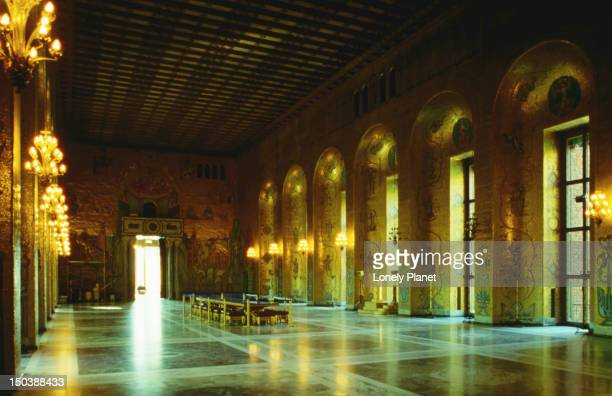 Inside the Stockholm's Stadshuset (Town Hall), where the annual Nobel Prize banquet is held.