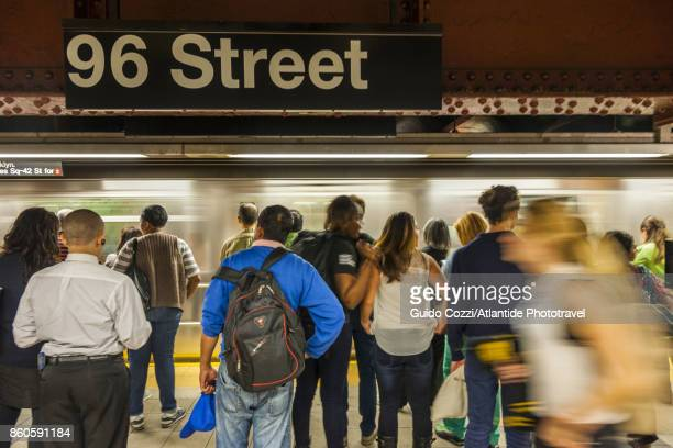 inside the subway - subway platform stock pictures, royalty-free photos & images