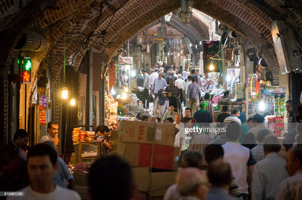 タブリーズバザール内, イラン最古の市場. : ストックフォト