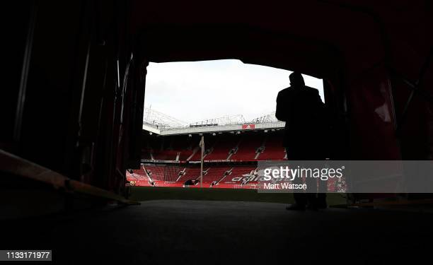 Inside the tunnel during the Premier League match between Manchester United and Southampton FC at Old Trafford on March 02, 2019 in Manchester,...