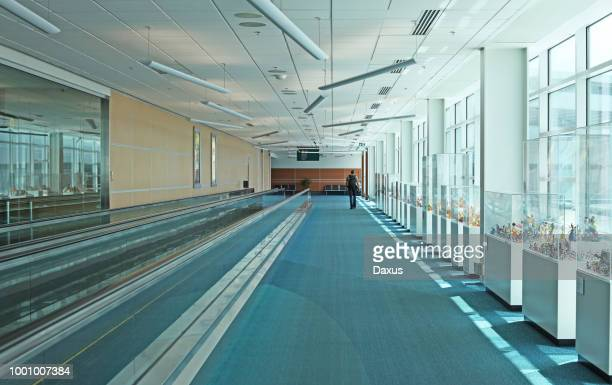 inside the vancouver international airport - richmond british columbia stock photos and pictures