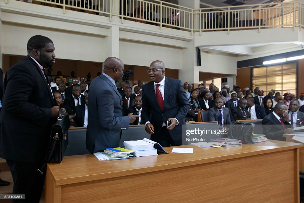 Code of Condult tribunal issues warrant to arrest Senate president in Abuja : News Photo