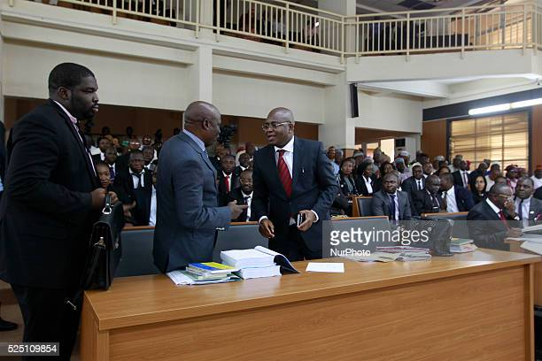 Inside thew court of the Code of Condult tribunal in Abuja Nigeria September 21 2015 Code of Condult tribunal issues warrant to arrest Senate...