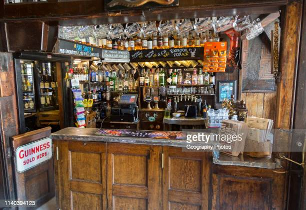 Inside traditional pub interior of Haunch of Venison public house Salisbury Wiltshire England UK