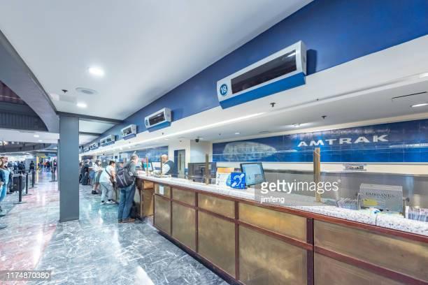 首都のユニオン駅内、メインホールのアーチ建築、ワニントンd.c.、アメリカ合衆国 - ワシントンdc ユニオン駅 ストックフォトと画像