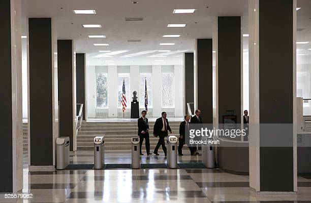 Inside US Central Intelligence Agency headquarters in Langley Virginia March 3 2005 US President George W Bush visited the headquarters for briefings...
