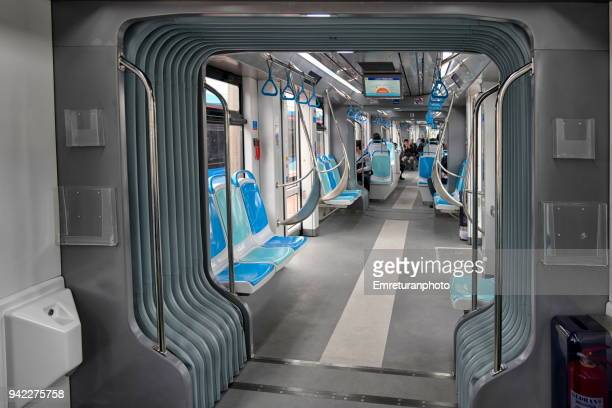 inside view of a cable car,izmir. - emreturanphoto stock pictures, royalty-free photos & images