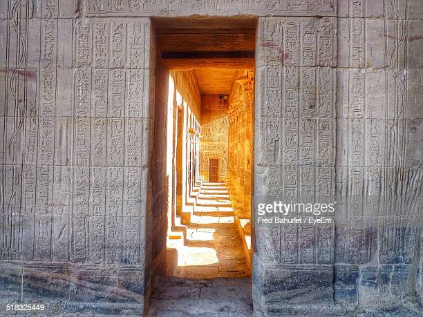 inside view of a temple - hieroglyphics stock pictures, royalty-free photos & images