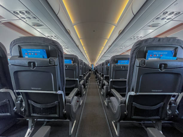 Inside view of an airplane