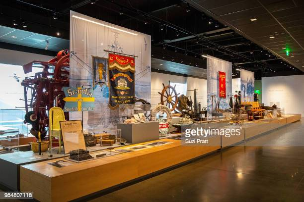 Inside view of displays at the Nordic Museum on May 4 2018 in Seattle Washington