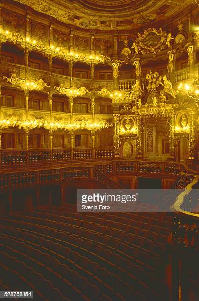 Inside view of the Bayreuth opera house