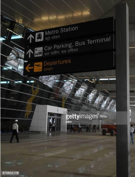 Inside view of the newlybuilt Terminal 3 of the Indira Gandhi International Airport in New Delhi