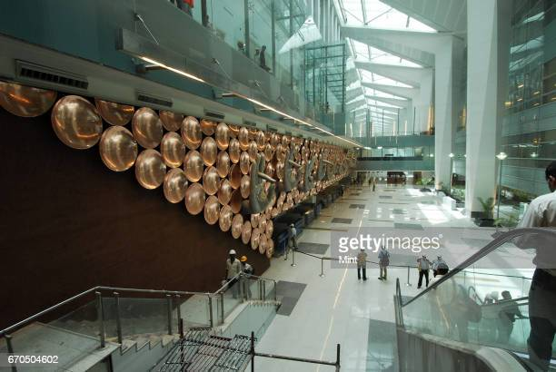 Inside view of the newlybuilt Terminal 3 of the Indira Gandhi International Airport in New Delhi