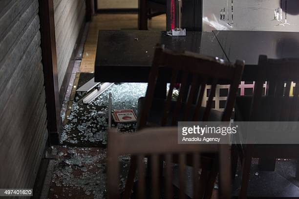 Inside view of the Sushi Maki restaurant next to La Belle Equipe bar in Rue de Charonne one of the places attacked by terrorists in Paris France on...