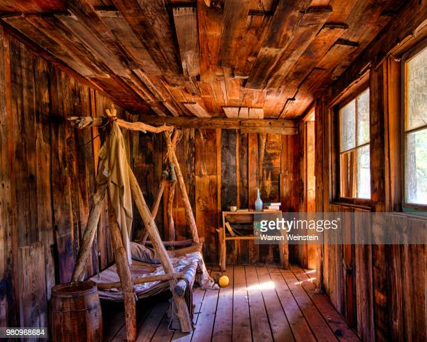 inside wooden cabin, superior, arizona, usa - weinstein stock pictures, royalty-free photos & images