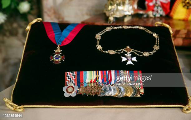 Insignia belonging to the Britain's Prince Philip, Duke of Edinburgh, the Order of Merit, the Royal Victorian Chain, and Full Size Medal Group, are...