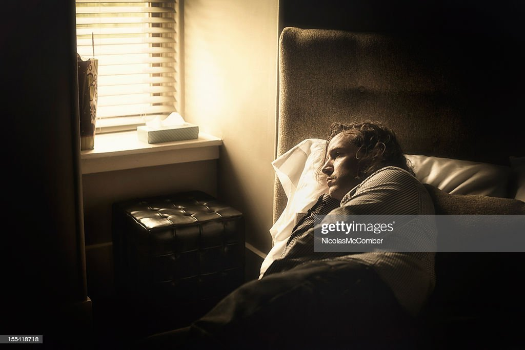 Insomnia and depression : Stock Photo