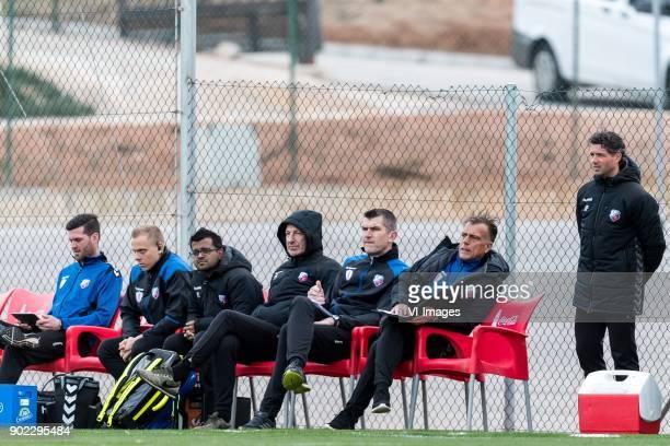 inspanningsfysioloog Sven Verstappen of FC Utrecht fysiotherapist Stephan Visser of FC Utrecht doctor Prabath Lodewijks of FC Utrecht teammanager...